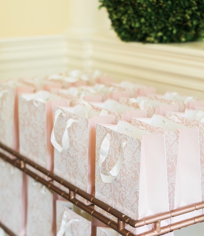 Pink + White Lace Gift Bags from a Ballerina Ball Birthday Party on Kara's Party Ideas | KarasPartyIdeas.com (30)