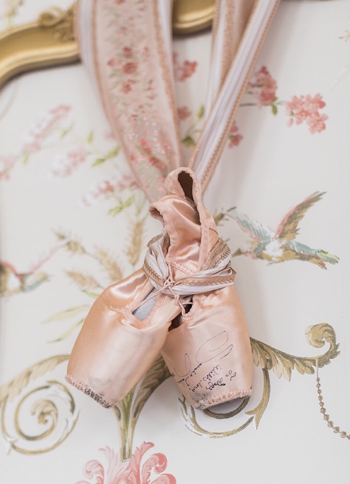 Ballet Slippers personalized by Principal Dancer Sarah Lane from a Ballerina Ball Birthday Party on Kara's Party Ideas | KarasPartyIdeas.com (29)