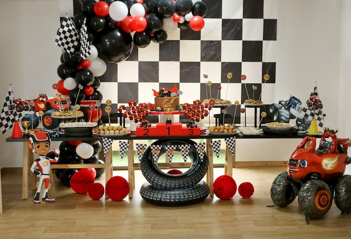 Blaze and the Monster Machine Birthday Party on Kara's Party Ideas | KarasPartyIdeas.com (9)
