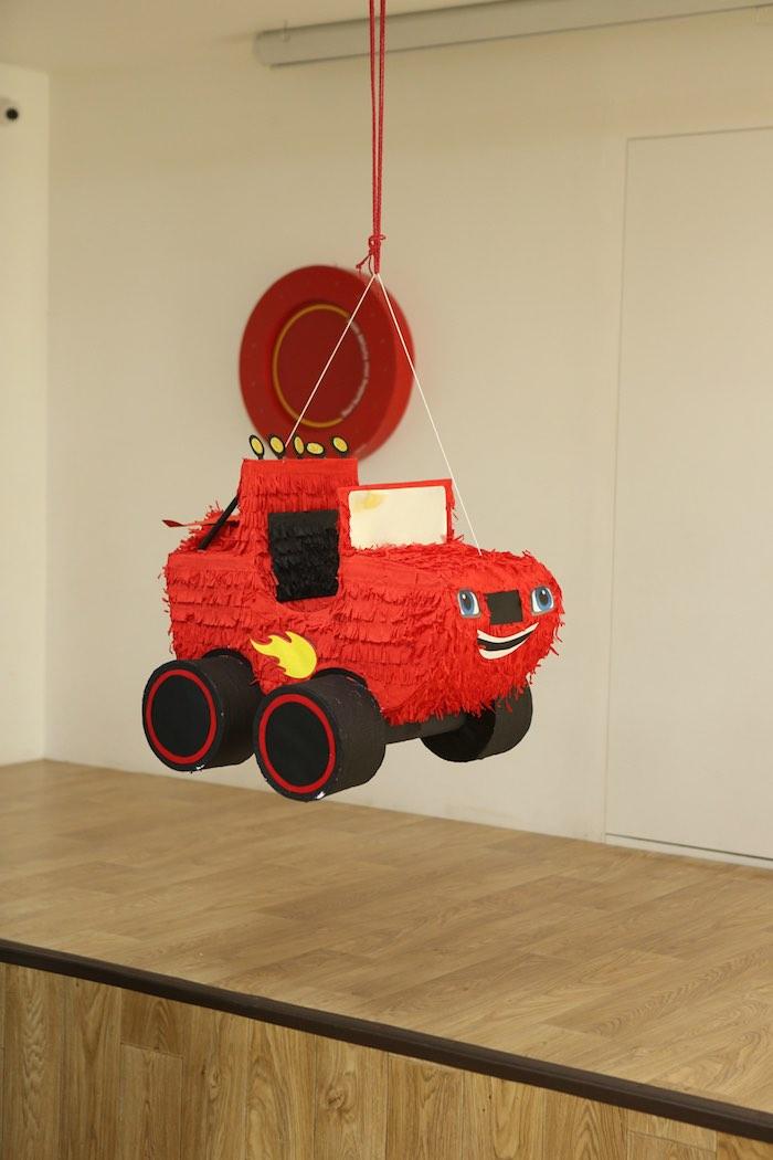 Blaze Pinata from a Blaze and the Monster Machine Birthday Party on Kara's Party Ideas | KarasPartyIdeas.com (2)