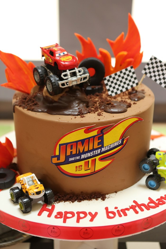 Blaze the Monster Truck Cake from a Blaze and the Monster Machine Birthday Party on Kara's Party Ideas | KarasPartyIdeas.com (19)