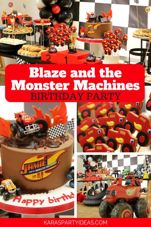 Blaze and the Monster Machines Birthday Party via Kara's Party Ideas - KarasPartyIdeas.com