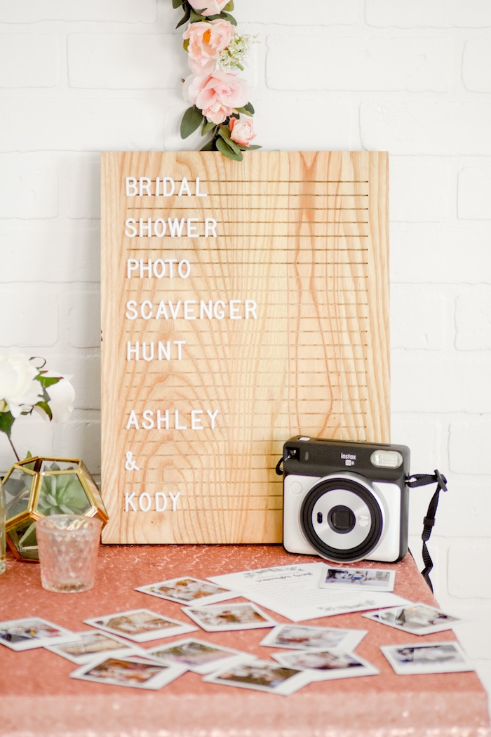Bridal Shower or Bachelorette Party Scavenger Hunt Game by Kara's Party Ideas for Fujifilm Instax-1a