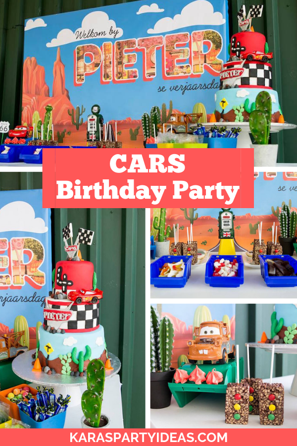 CARS Birthday Party via Kara's Party Ideas - KarasPartyIdeas.com