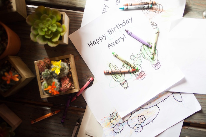Cactus coloring pages from a Cactus Themed Dol 1st Birthday Party on Kara's Party Ideas | KarasPartyIdeas.com (12)