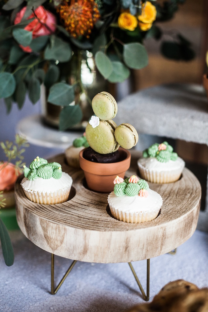 Cactus Cupcakes from a Cactus Themed Dol 1st Birthday Party on Kara's Party Ideas | KarasPartyIdeas.com (21)