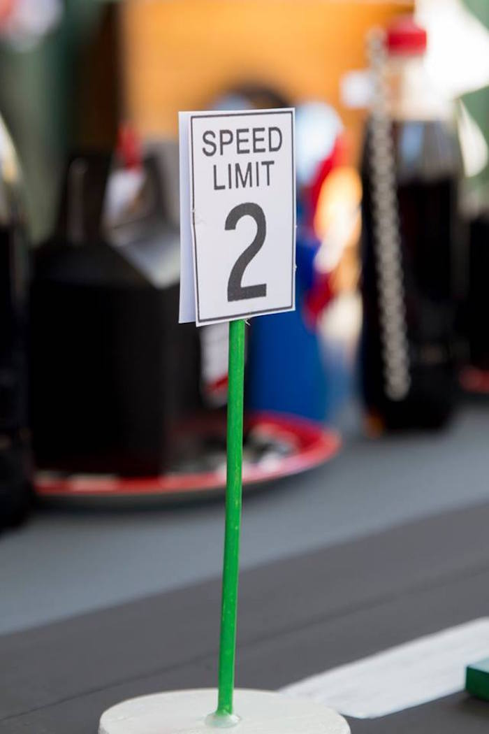 Speed Limit Table Prop from a Cars Birthday Party on Kara's Party Ideas | KarasPartyIdeas.com (25)
