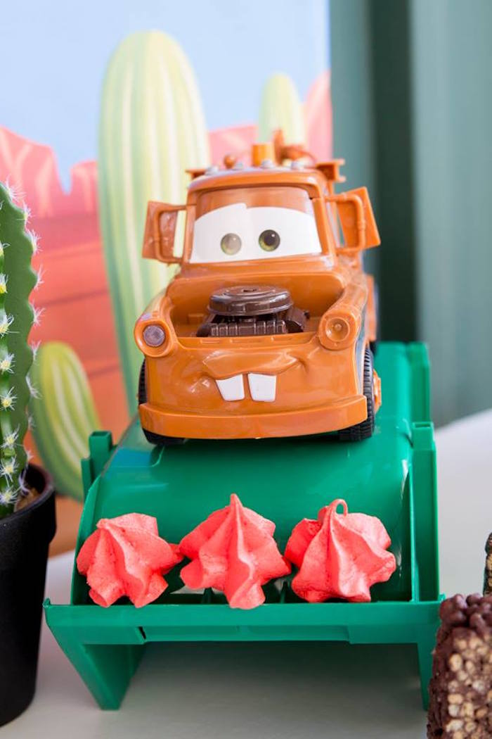 Mater Meringue Stand from a Cars Birthday Party on Kara's Party Ideas | KarasPartyIdeas.com (23)