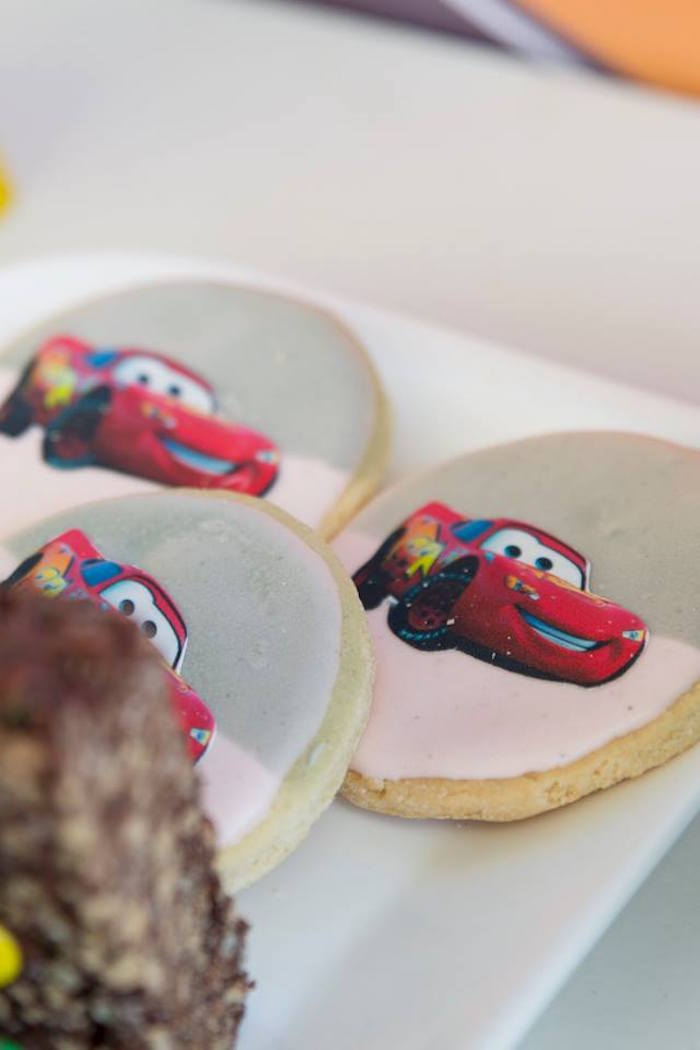 Lightning McQueen Cookies from a Cars Birthday Party on Kara's Party Ideas | KarasPartyIdeas.com (21)