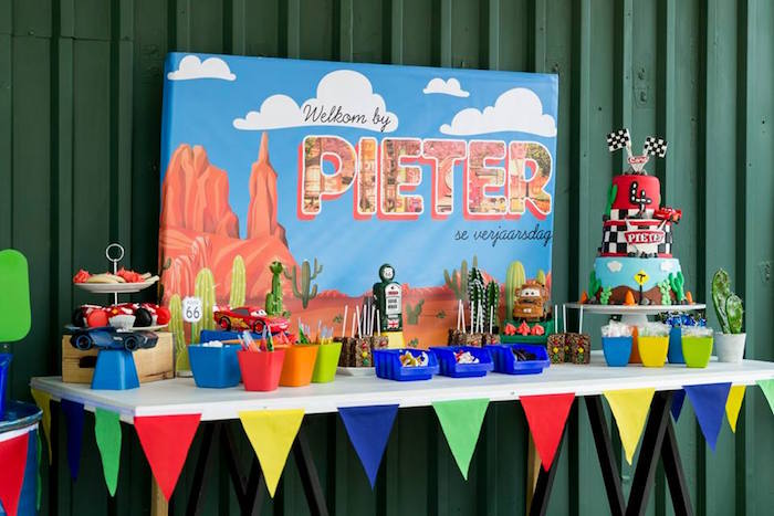 Cars Themed Dessert Table from a Cars Birthday Party on Kara's Party Ideas | KarasPartyIdeas.com (19)