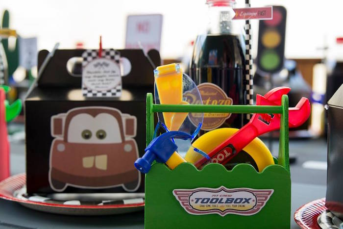 Tool Box Table Setting from a Cars Birthday Party on Kara's Party Ideas | KarasPartyIdeas.com (34)