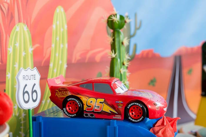 Lightning McQueen Prop from a Cars Birthday Party on Kara's Party Ideas | KarasPartyIdeas.com (15)