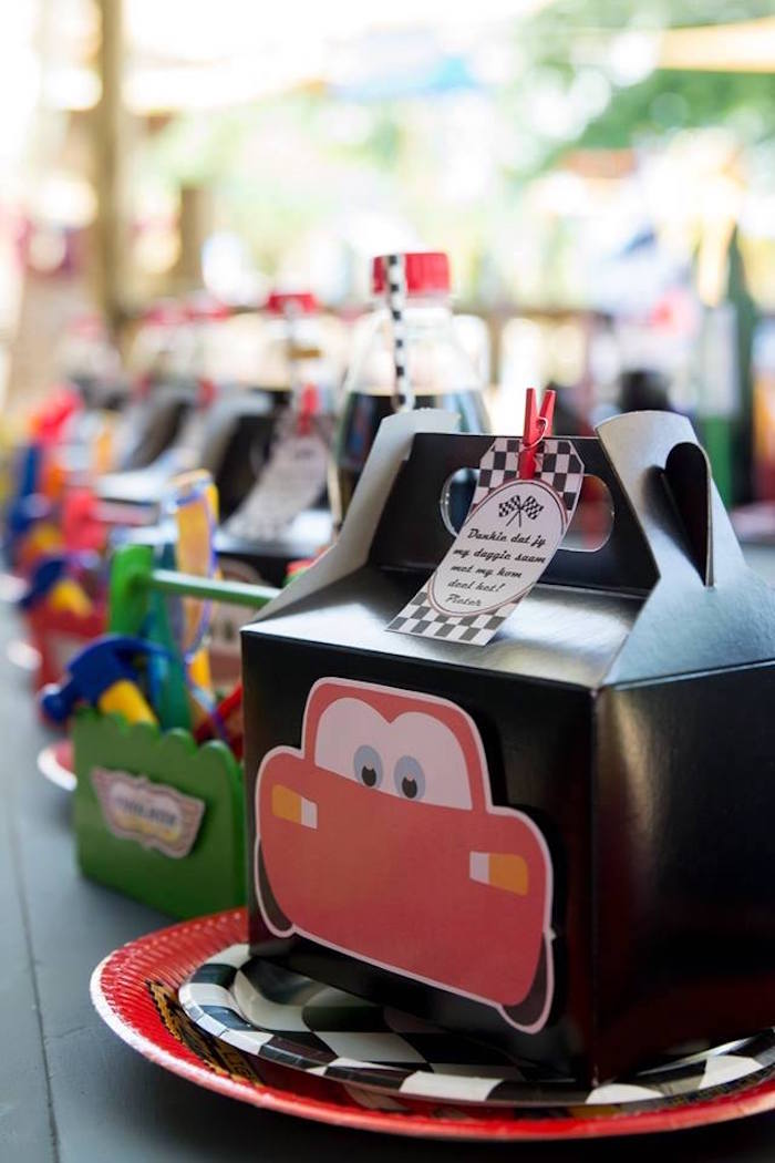 Cars Themed Kid Table + Place Settings from a Cars Birthday Party on Kara's Party Ideas | KarasPartyIdeas.com (10)