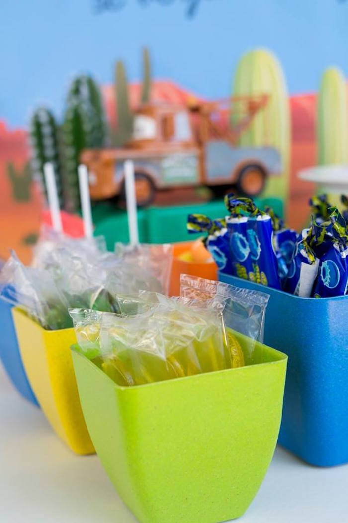 Colorful Candy + Favor-filled Dishes from a Cars Birthday Party on Kara's Party Ideas | KarasPartyIdeas.com (8)