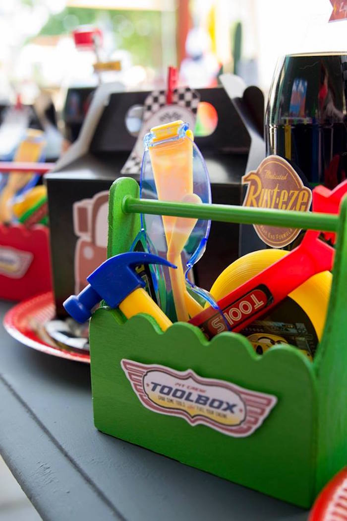 Tool Box Favor Set from a Cars Birthday Party on Kara's Party Ideas | KarasPartyIdeas.com (5)