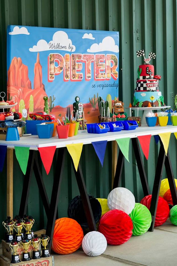 Cars Themed Dessert Table from a Cars Birthday Party on Kara's Party Ideas | KarasPartyIdeas.com (29)