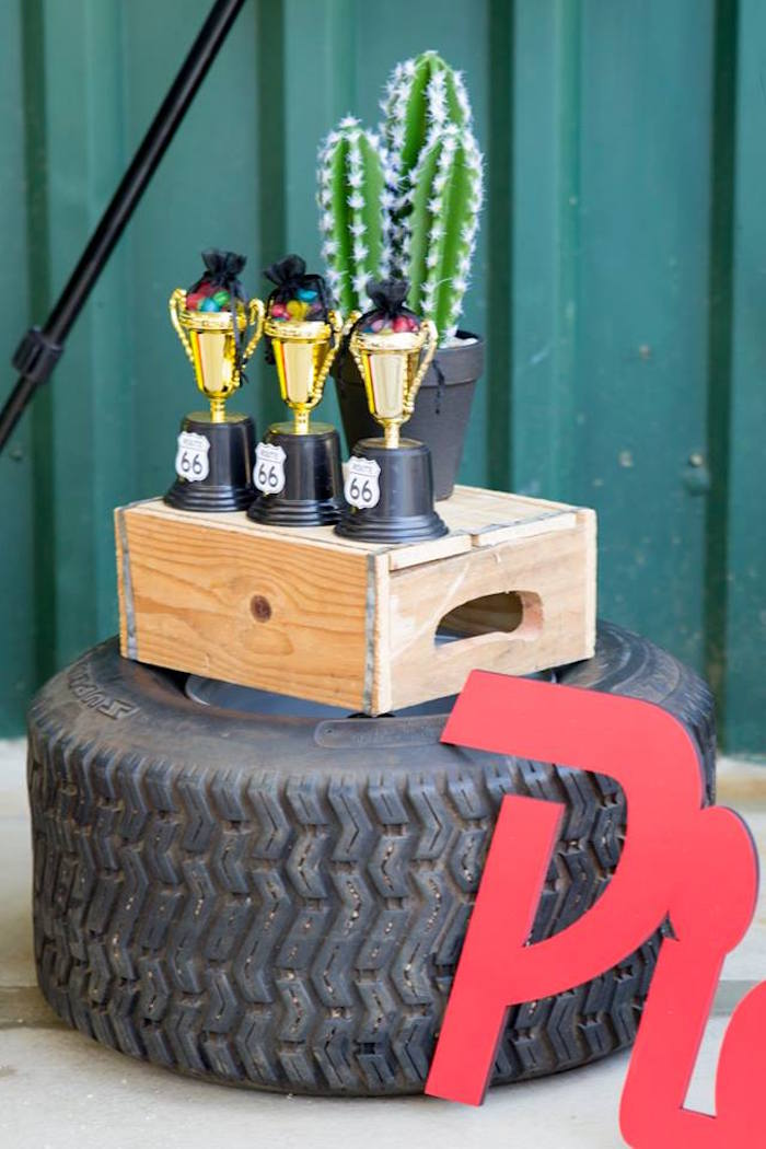 Trophies from a Cars Birthday Party on Kara's Party Ideas | KarasPartyIdeas.com (28)