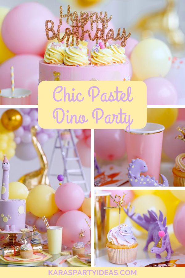 Chic Pastel Dino Party via Kara's Party Ideas - KarasPartyIdeas.com