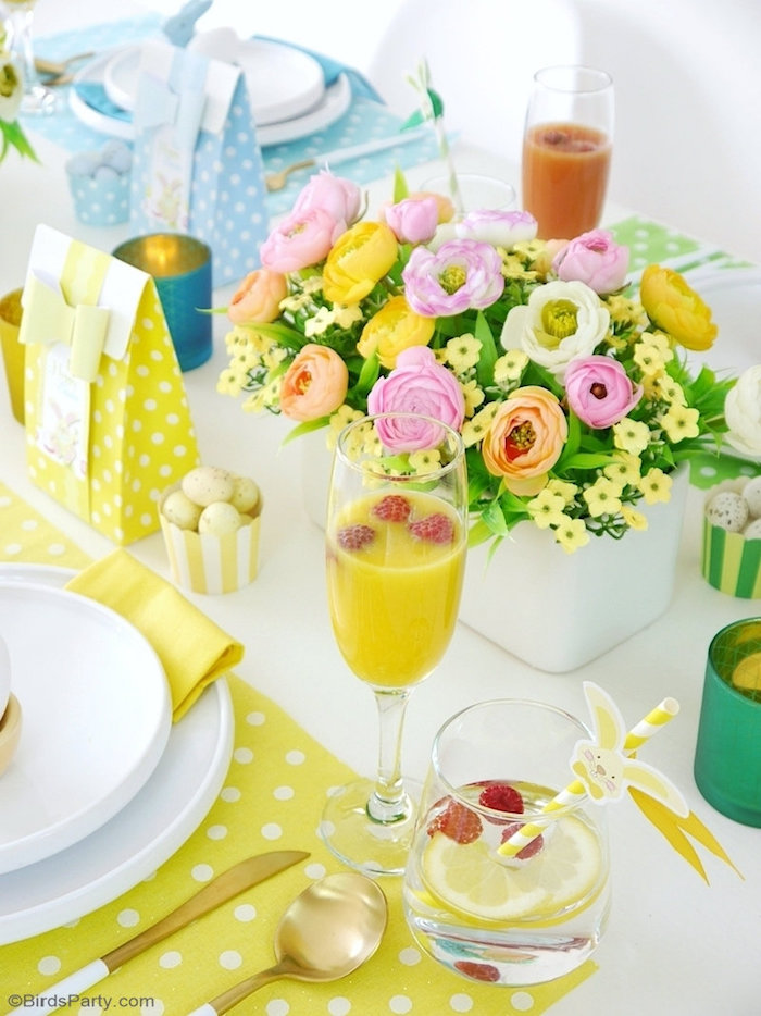 Easter Drinks + Blooms from a Colorful Spring Easter Brunch on Kara's Party Ideas | KarasPartyIdeas.com (10)