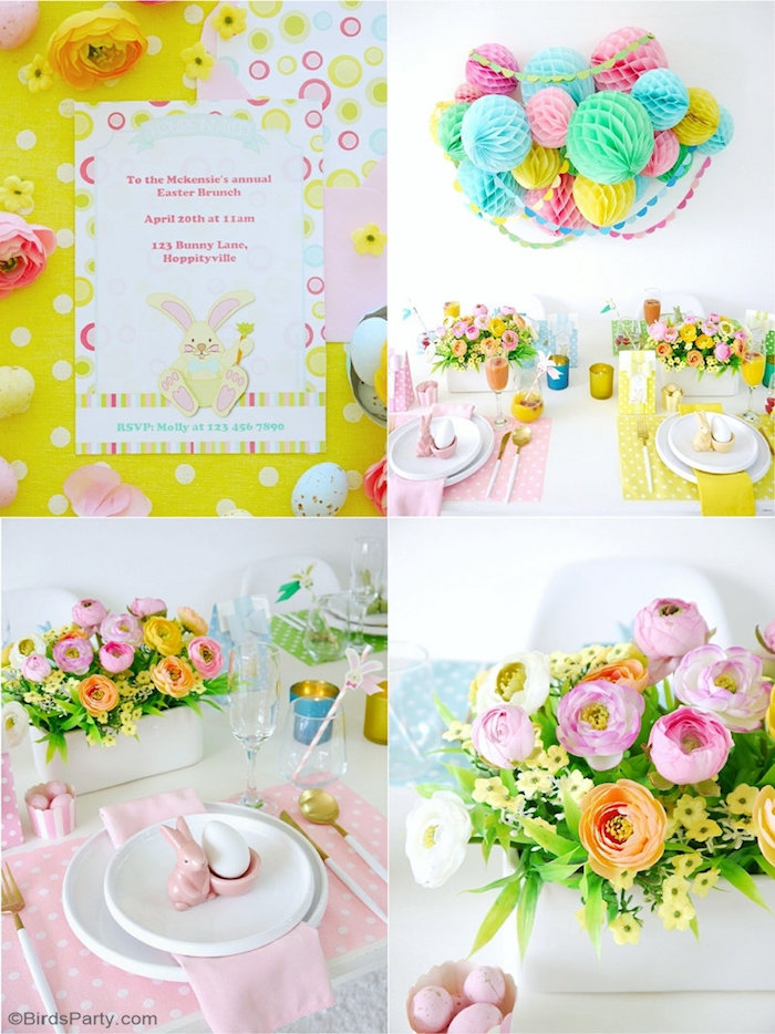 Easter Brunch Party Ideas + Tablescape from a Colorful Spring Easter Brunch on Kara's Party Ideas | KarasPartyIdeas.com (7)