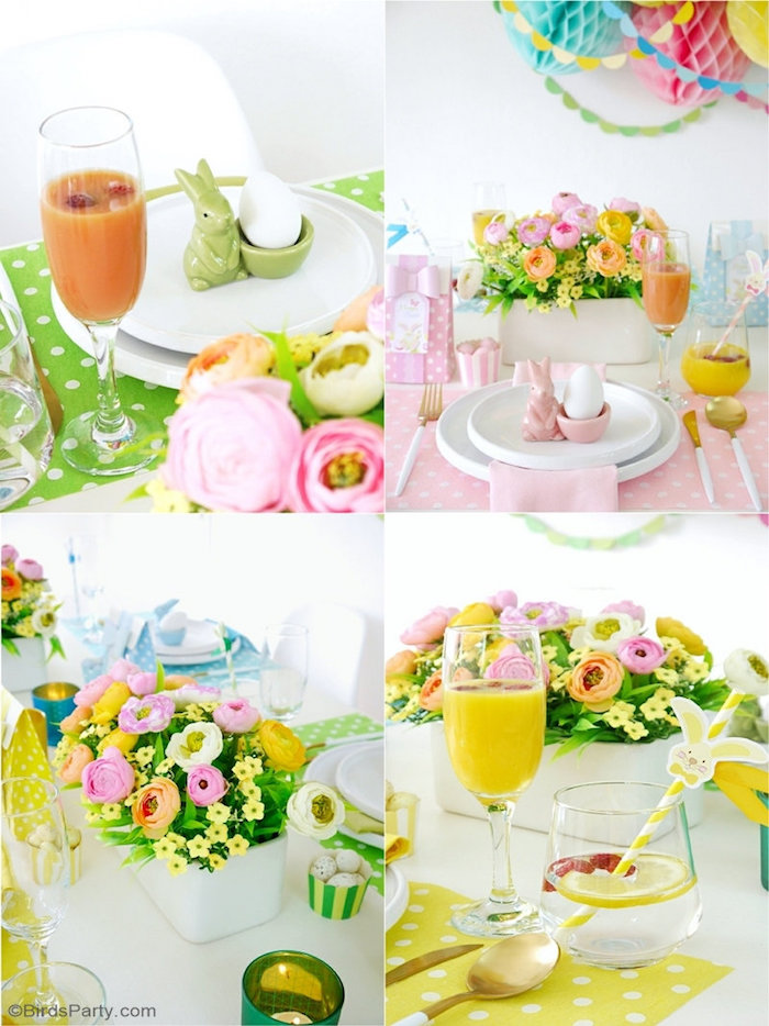 Pastel Easter Party Tablescape + Table Ideas from a Colorful Spring Easter Brunch on Kara's Party Ideas | KarasPartyIdeas.com (5)