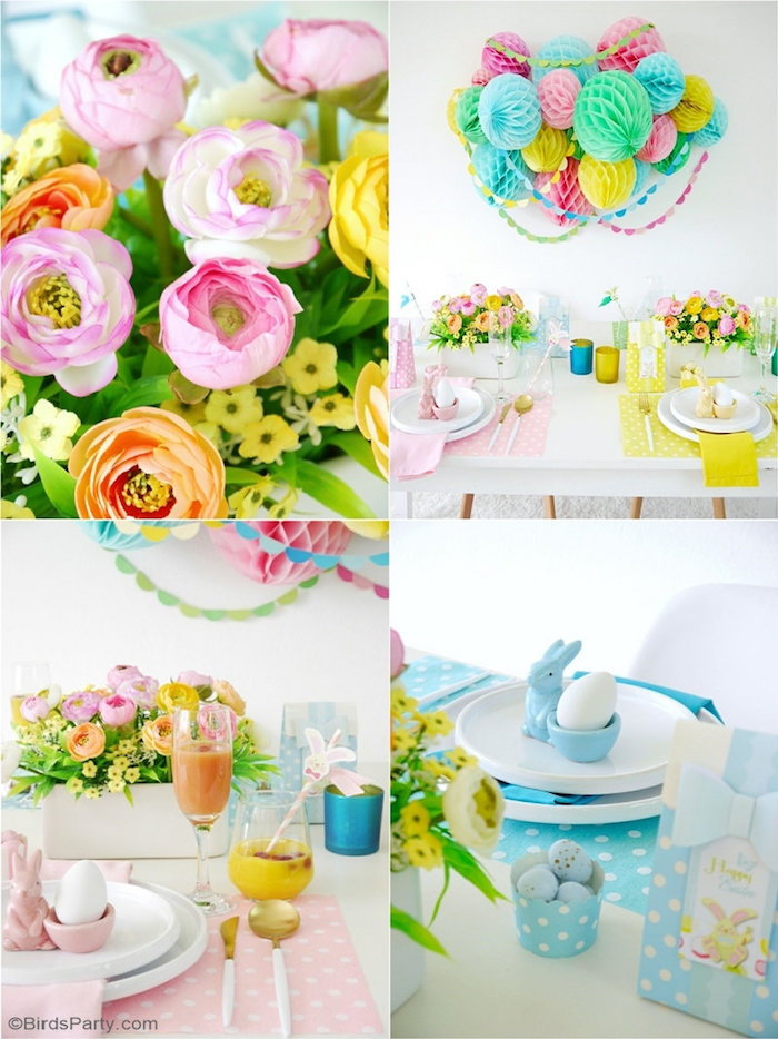 Pastel Easter Party Tablescape + Table Ideas from a Colorful Spring Easter Brunch on Kara's Party Ideas | KarasPartyIdeas.com (4)
