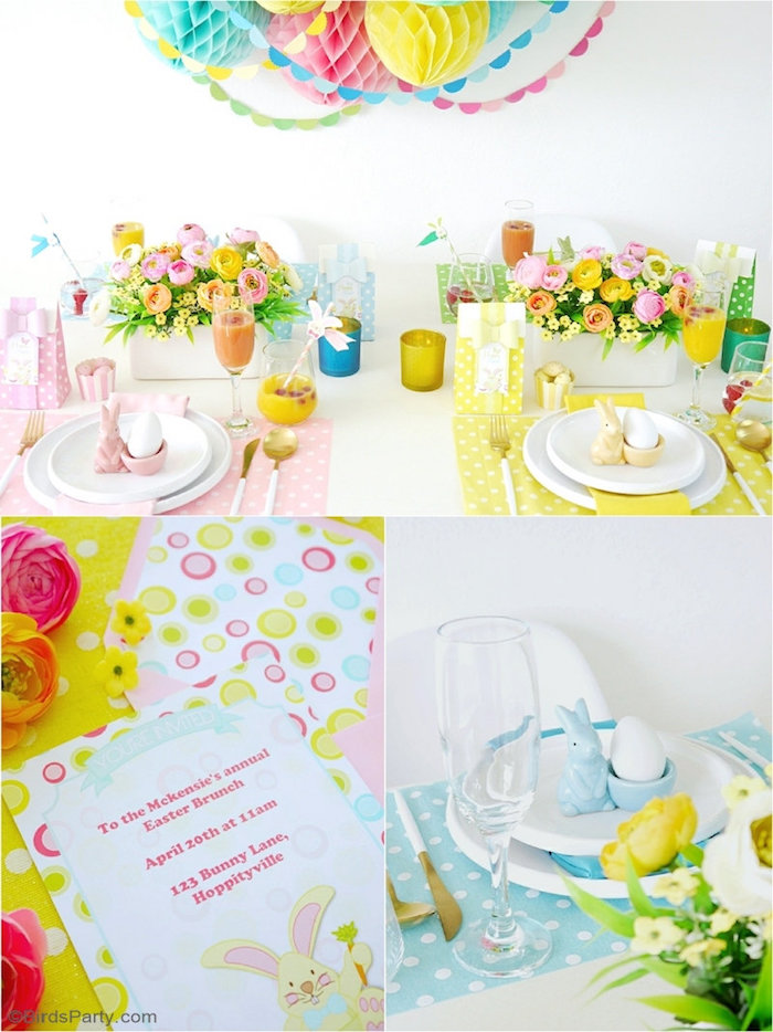 Easter Themed Brunch Tablescape + Party Ideas from a Colorful Spring Easter Brunch on Kara's Party Ideas | KarasPartyIdeas.com (18)
