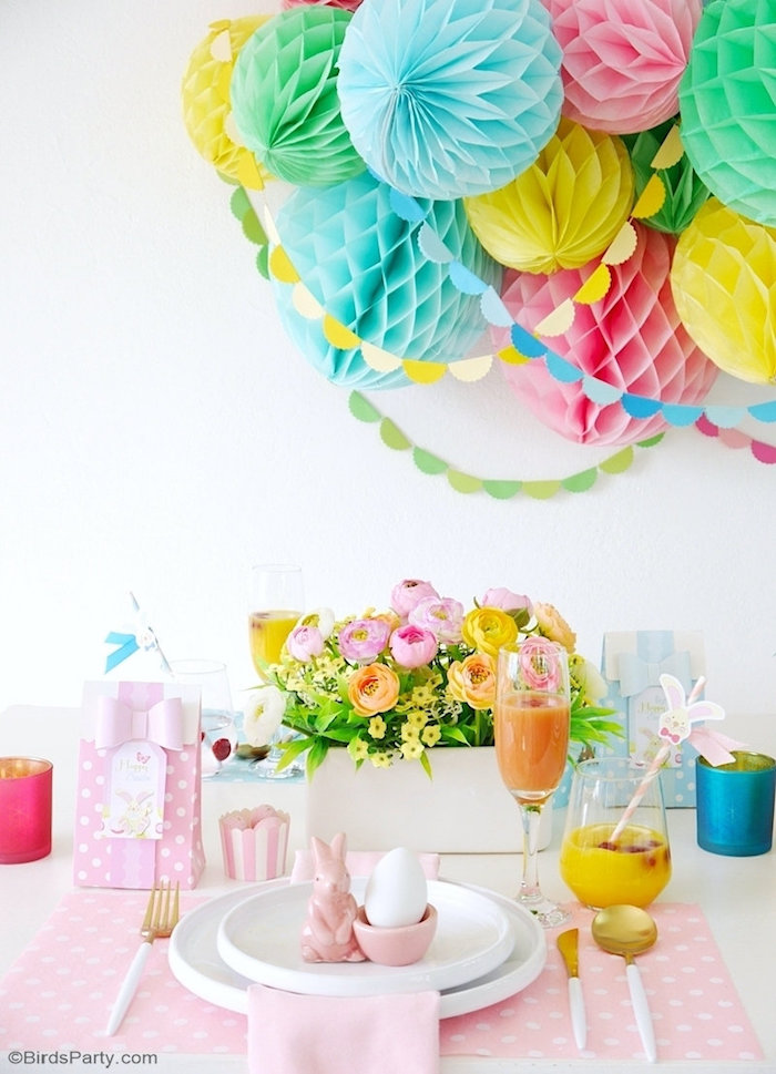 Easter Brunch Tablescape + Table Setting from a Colorful Spring Easter Brunch on Kara's Party Ideas | KarasPartyIdeas.com (13)