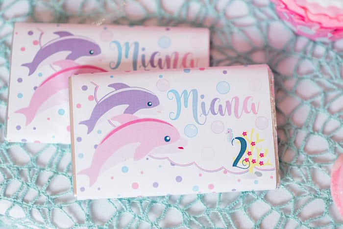 Customized Dolphin-inspired Candy Bar Label from a Dolphin Birthday Party on Kara's Party Ideas | KarasPartyIdeas.com (11)