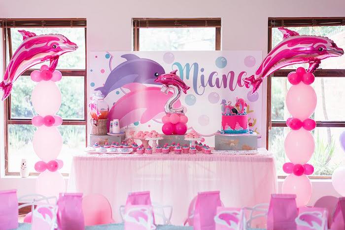 Dolphin Birthday Party on Kara's Party Ideas   KarasPartyIdeas.com (28)