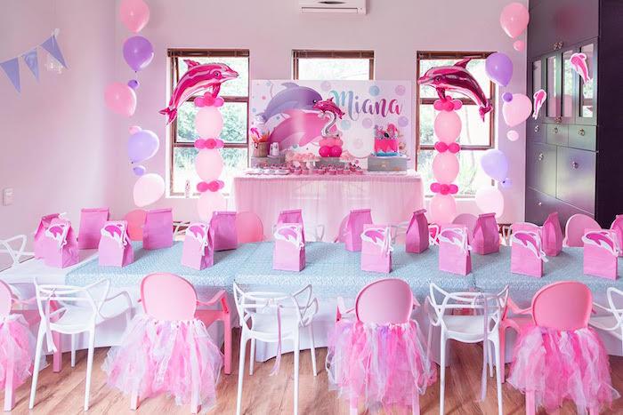 Dolphin Party Tables from a Dolphin Birthday Party on Kara's Party Ideas | KarasPartyIdeas.com (25)