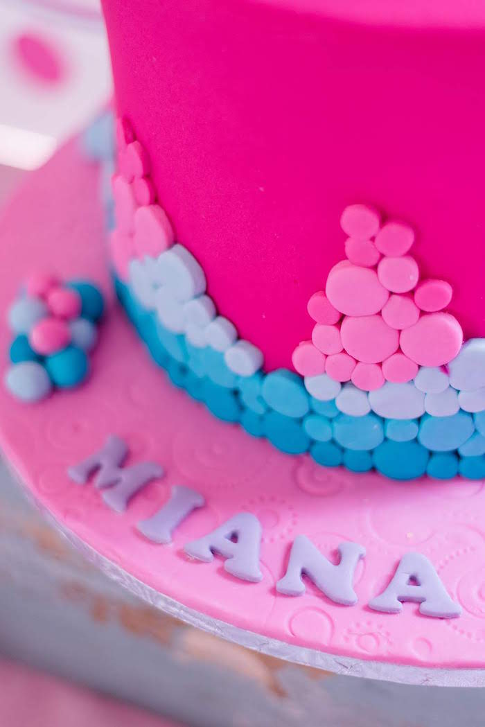 Fondant Bubbles + Cake Detail from a Dolphin Birthday Party on Kara's Party Ideas   KarasPartyIdeas.com (23)