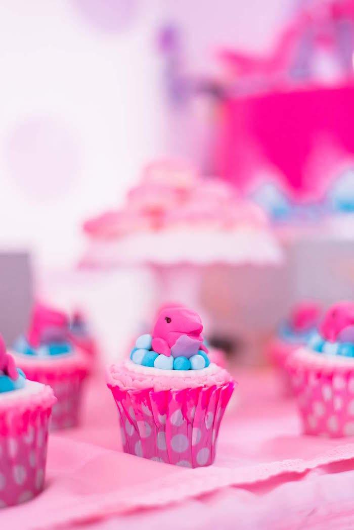 Dolphin Cupcakes from a Dolphin Birthday Party on Kara's Party Ideas | KarasPartyIdeas.com (22)