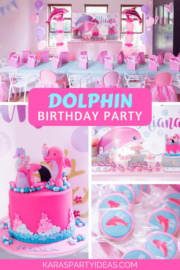Dolphin Birthday Party via Kara's Party Ideas - KarasPartyIdeas.com