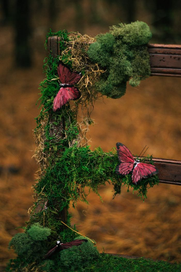 Woodland Moss Chair from a Dreamy Enchanted Woodland Party on Kara's Party Ideas | KarasPartyIdeas.com (8)