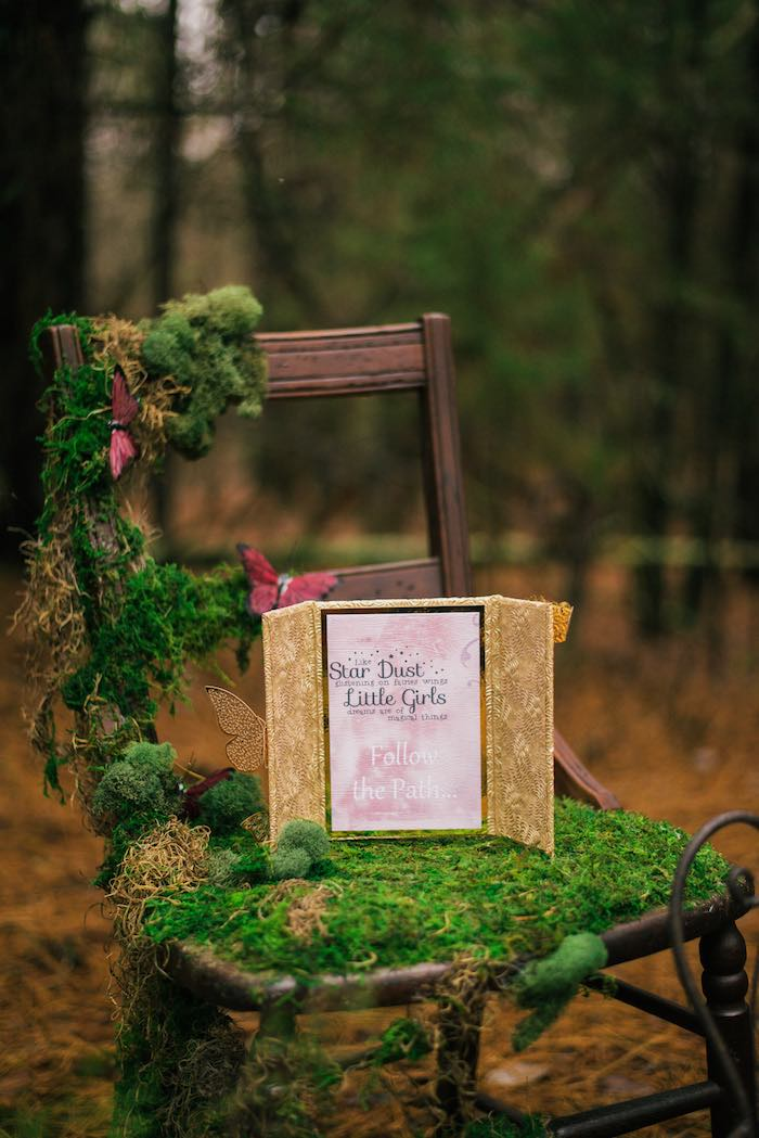 Woodland Moss Chair from a Dreamy Enchanted Woodland Party on Kara's Party Ideas | KarasPartyIdeas.com (7)