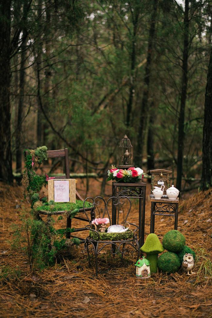 Wooded Woodland Decor from a Dreamy Enchanted Woodland Party on Kara's Party Ideas | KarasPartyIdeas.com (6)