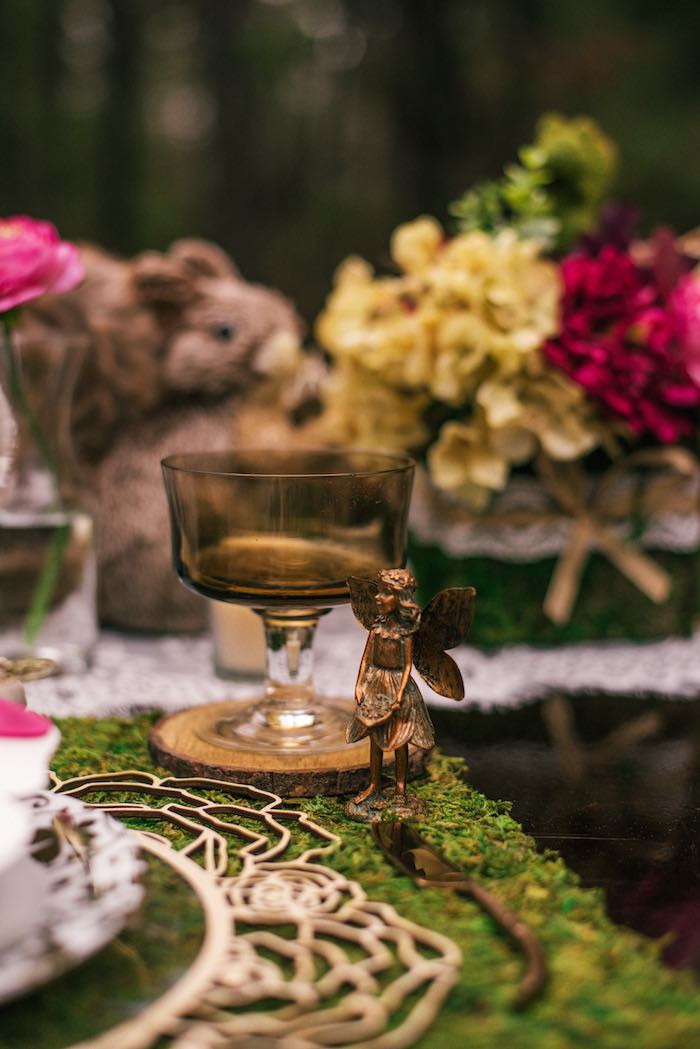 Brass Fairy + Goblet from a Dreamy Enchanted Woodland Party on Kara's Party Ideas | KarasPartyIdeas.com (19)