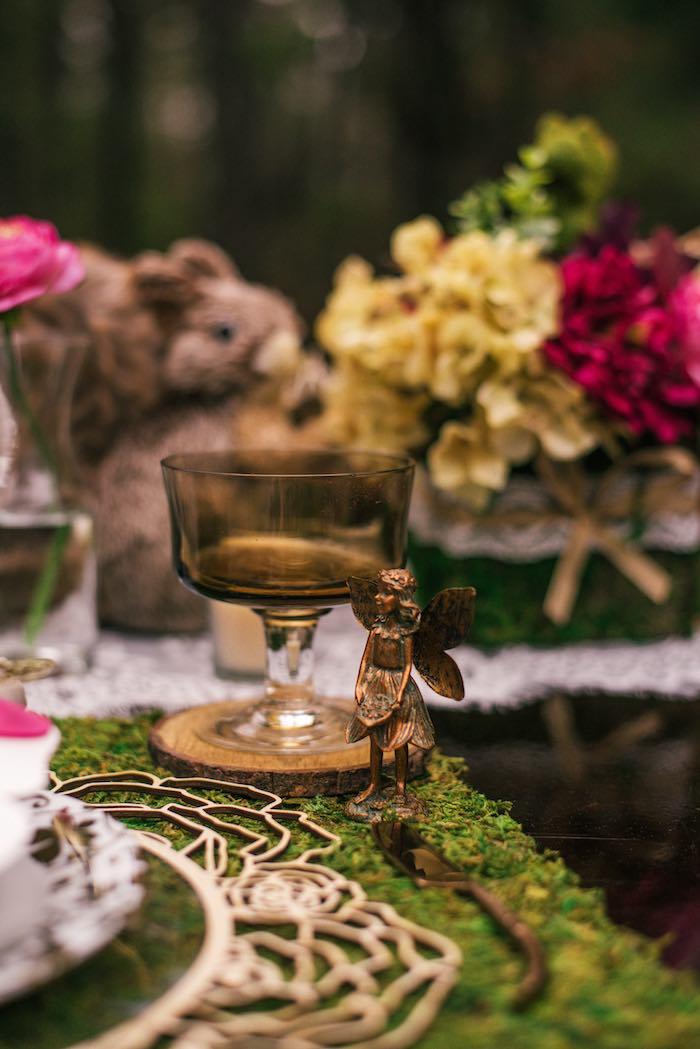 Brass Fairy + Goblet from a Dreamy Enchanted Woodland Party on Kara's Party Ideas | KarasPartyIdeas.com (19)