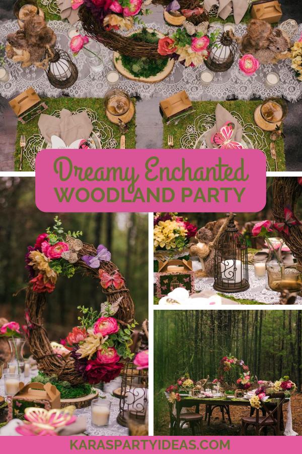 Dreamy Enchanted Woodland Party via Kara's Party Ideas - KarasPartyIdeas.com