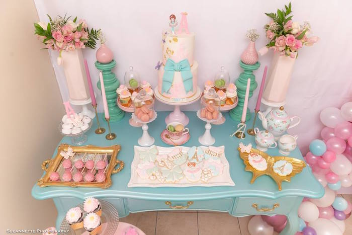 Fancy Nancy-inspired Dessert Table from a Fancy Nancy Birthday Party on Kara's Party Ideas | KarasPartyIdeas.com (18)