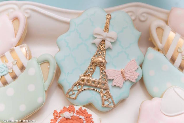 Eiffel Tower Cookie from a Fancy Nancy Birthday Party on Kara's Party Ideas | KarasPartyIdeas.com (15)