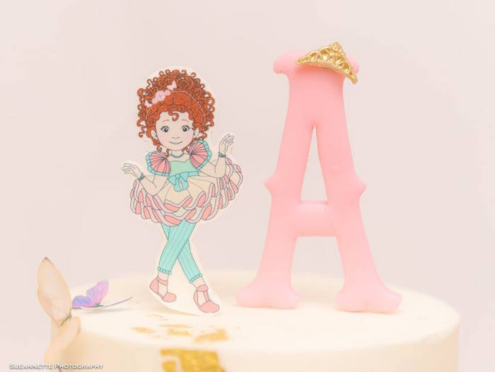 Fancy Nancy + Pink A Cake Toppers from a Fancy Nancy Birthday Party on Kara's Party Ideas | KarasPartyIdeas.com (14)