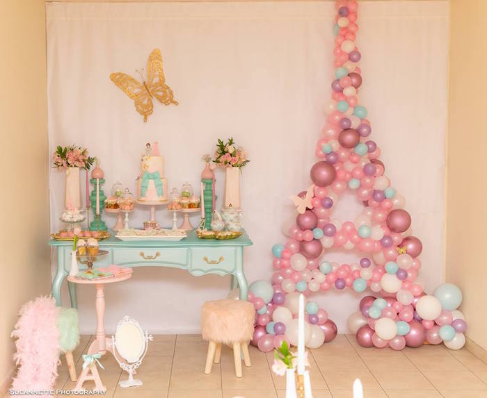 Fancy Nancy Dessert Table from a Fancy Nancy Birthday Party on Kara's Party Ideas | KarasPartyIdeas.com (10)