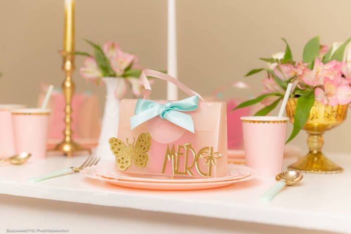 Fancy Nancy-inspired Table Setting from a Fancy Nancy Birthday Party on Kara's Party Ideas | KarasPartyIdeas.com (9)