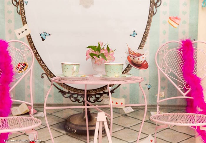 Butterfly Tea Table from a Fancy Nancy Birthday Party on Kara's Party Ideas | KarasPartyIdeas.com (6)