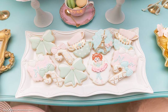 Fancy Nancy-inspired Sugar Cookies from a Fancy Nancy Birthday Party on Kara's Party Ideas | KarasPartyIdeas.com (32)