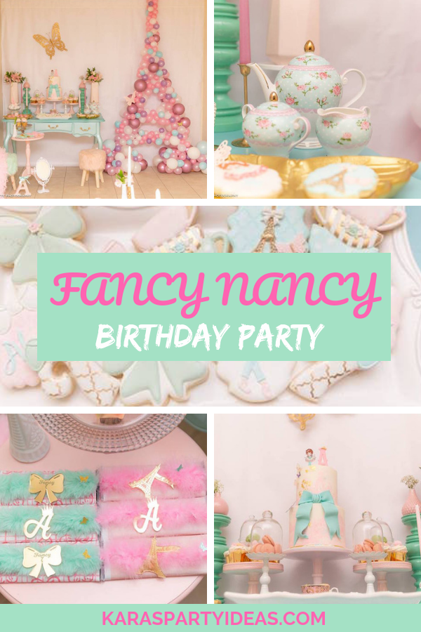 Admirable Karas Party Ideas Fancy Nancy Birthday Party Karas Party Ideas Funny Birthday Cards Online Barepcheapnameinfo
