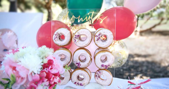 Floral Bloom Birthday Party On Karas Ideas