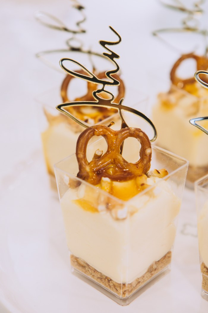 Salted Caramel Dessert Cups from a Floral Christening Party on Kara's Party Ideas | KarasPartyIdeas.com (13)